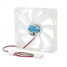 Blue LED Light Fan Case Clear 12CM Heatsink