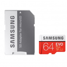 Samsung Evo Plus UHS-I U1 Class 10 80MBps microSDXC With Adapter - 64GB