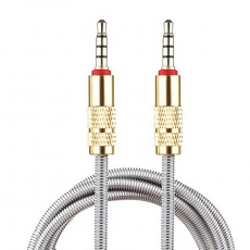 Shrink AUX 1m Spring Metal Cable