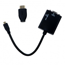 Micro HDMI And HDMI to VGA Adapter Audio Cable